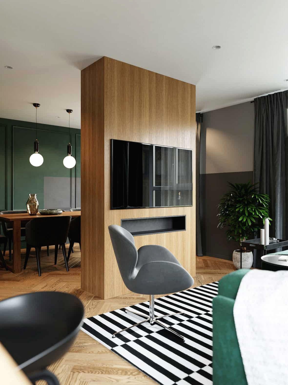 Với chỗ ngồi hạn chế trong phòng khách, phòng khách được bố trí thêm ghế có thiết kế cổ điển tạo điểm nhấn.