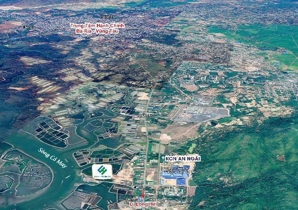 Vị trí dự án Long Hải Riverside City Bà Rịa trên Google Map