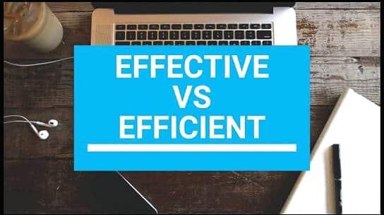 Sự khác nhau giữa effective và efficient trong tiếng Anh