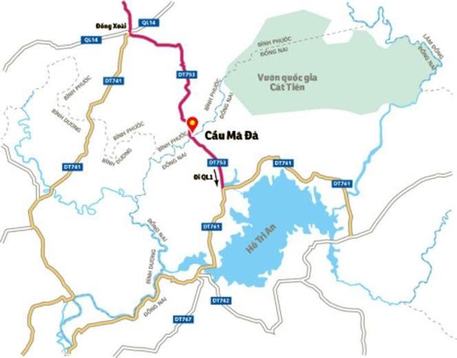 Xây cầu Mã Đà: Từ Bình Phước về sân bay Long Thành chỉ còn 60 phút